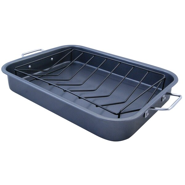 KitchenWorthy Roasting Pan with V-Rack by The Premium Connection