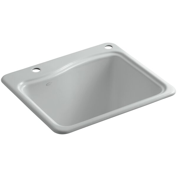 River Falls Top-Mount Utility Sink with 2 Faucet Holes - One-Hole On Deck On The Left and Right-Hand Accessory Hole by Kohler