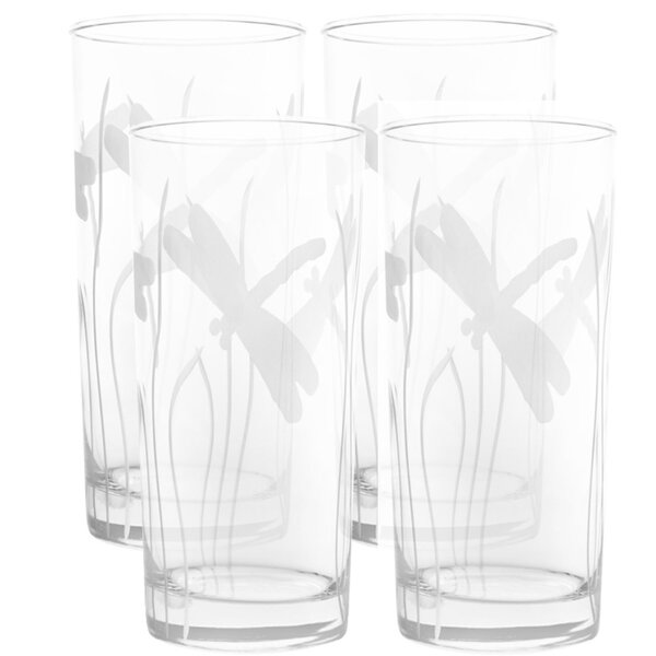 Dragonfly 15 oz. Highball Glass (Set of 4) by Rolf Glass
