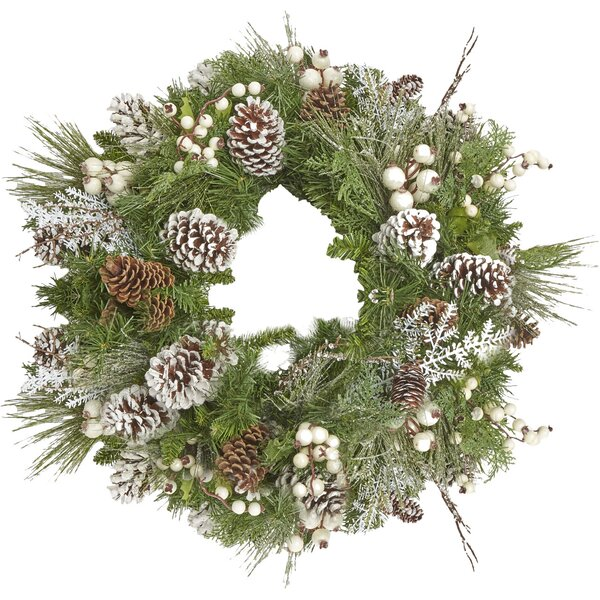 Mixed Evergreen Berry Wreath by Creative Displays, Inc.