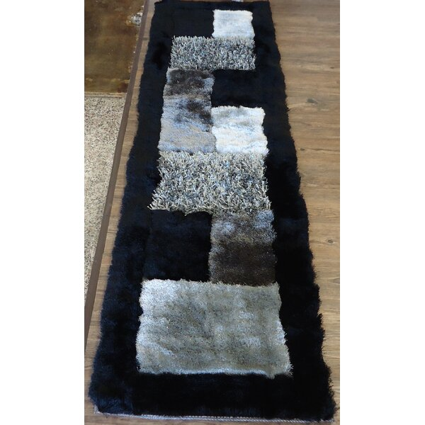 Hand-Tufted Gray/black Area Rug By Rug Factory Plus.
