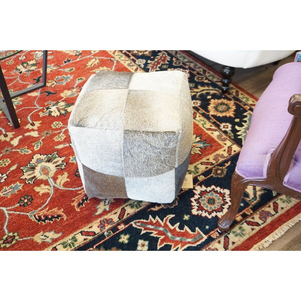 Home & Outdoor Asmus Leather Pouf