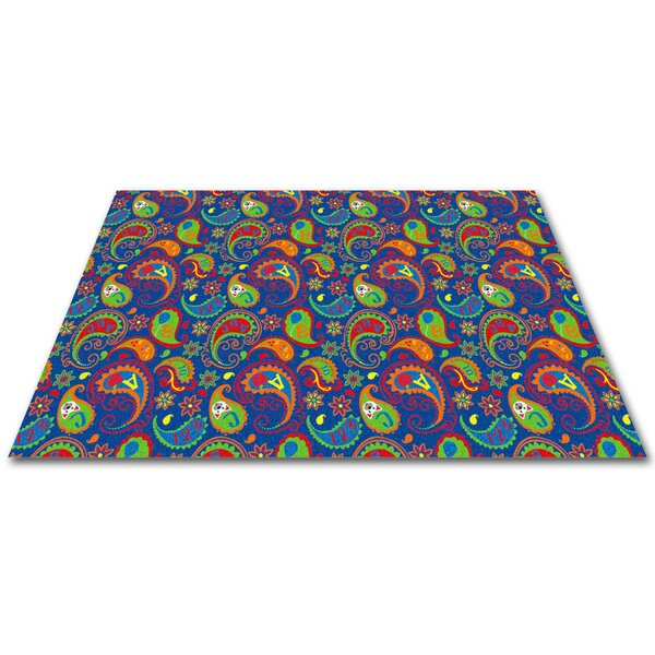 Paisley with ABC Indoor/Outdoor Area Rug by Kid Carpet