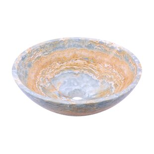 Best Price Stone Circular Vessel Bathroom Sink By Novatto