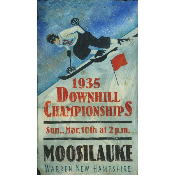 Downhill Championship Vintage Advertisement Plaque by Millwood Pines