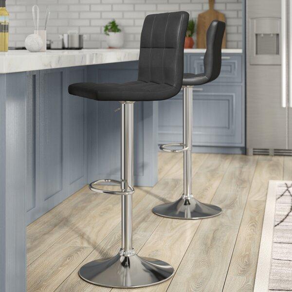 Gemini Adjustable Height Swivel Bar Stool (Set of 2) by Orren Ellis