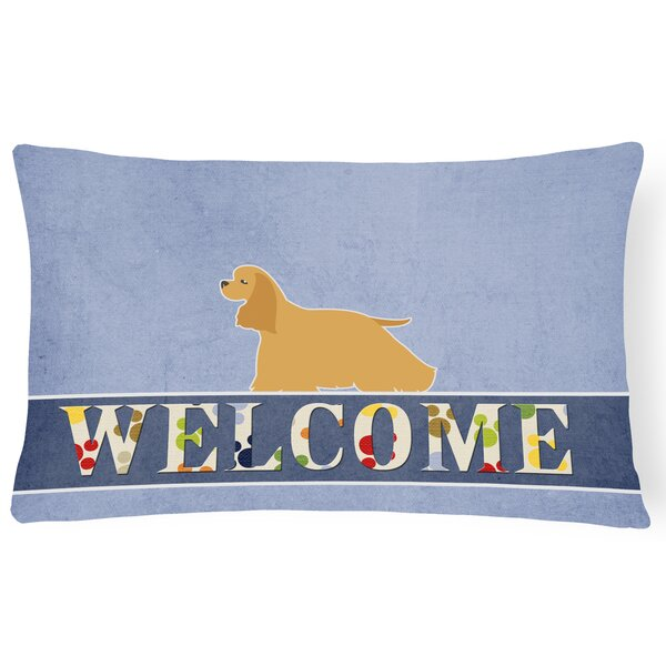 Emerson Cocker Spaniel Welcome Lumbar Pillow by Red Barrel Studio