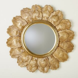 Global Views Peacock Feather Accent Mirror