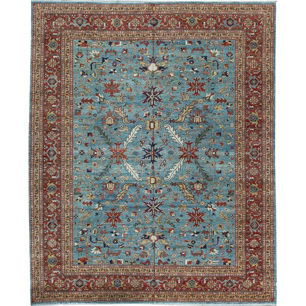 One-of-a-Kind Hand-Knotted Blue 11'10 x 14'4 Wool Area Rug