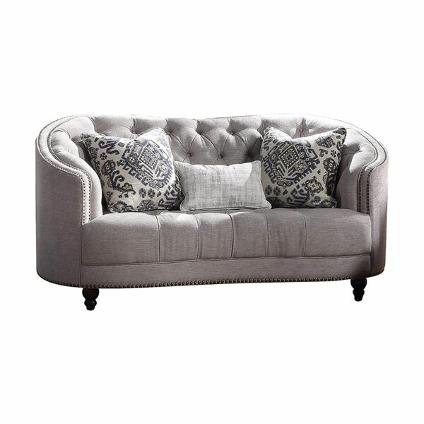 Bretz Curved Loveseat by Bungalow Rose Bungalow Rose