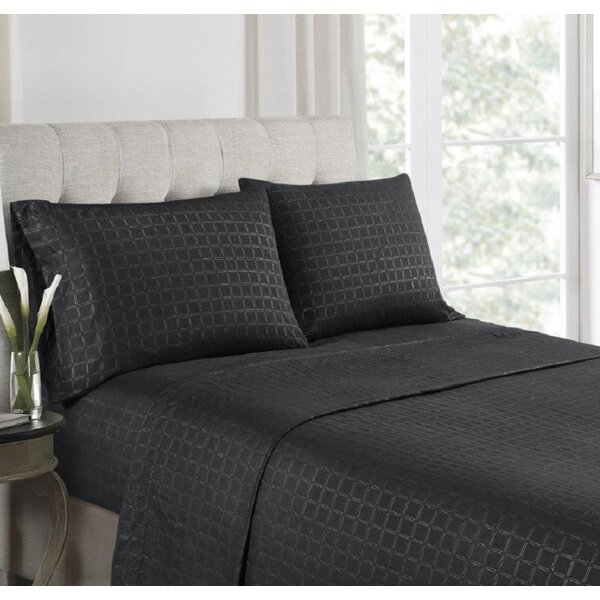 Anzilotti Embossed Microfiber Sheet Set by Charlton Home