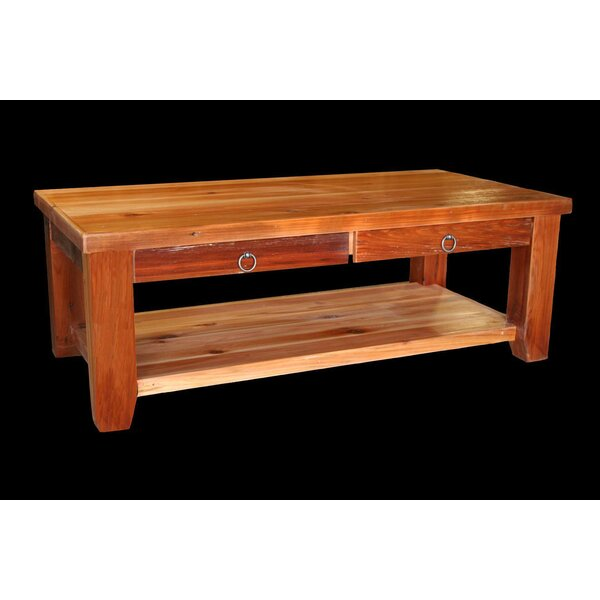Jorgensen Coffee Table with Shelf by Loon Peak