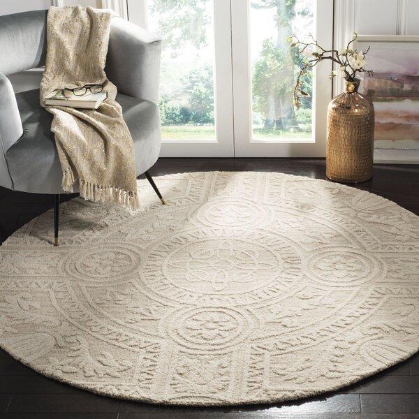 Jahiem Hand Tufted Wool Beige Area Rug by Bungalow Rose