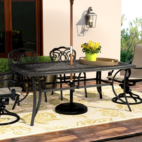 Wydra Metal Dining Table By Darby Home Co