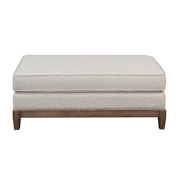 Pelican Way Wood Base Ottoman by Gracie Oaks