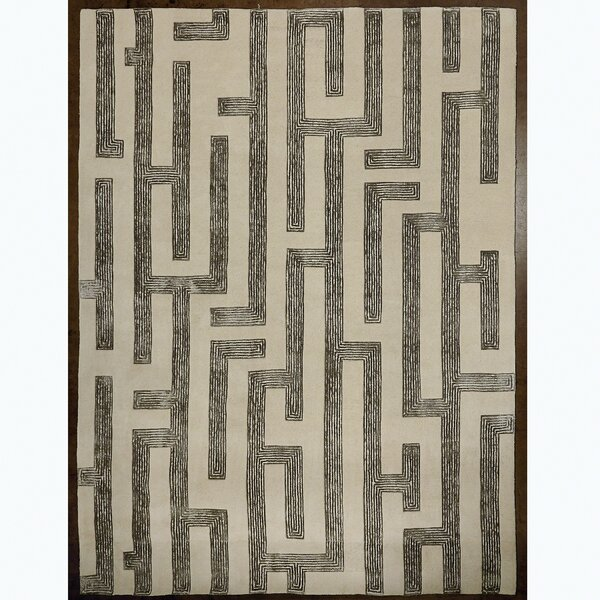 Labyrinth Hand Tufted Wool Gray Area Rug by Studio A Home