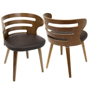 Baehr Mid Century Modern Slat Back Upholstered Dining Chair