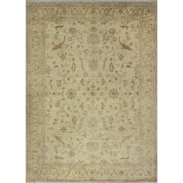 One-of-a-Kind Suzann Fine Chobi Hand-Knotted Ivory Area Rug by Isabelline