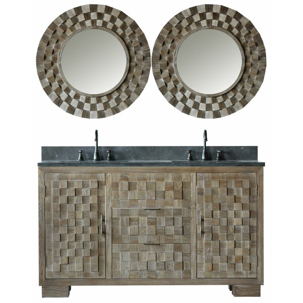 Claris 60 Double Bathroom Vanity Set with Mirror by Bungalow Rose