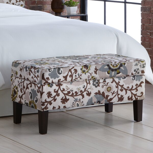 Thurston Upholstered Storage Bench by Alcott Hill