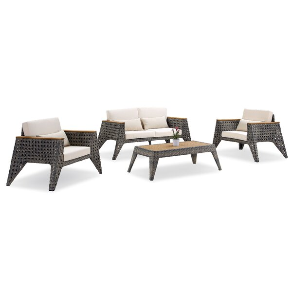 Gannon 4 Piece Sofa Seating Group with Cushions by 17 Stories
