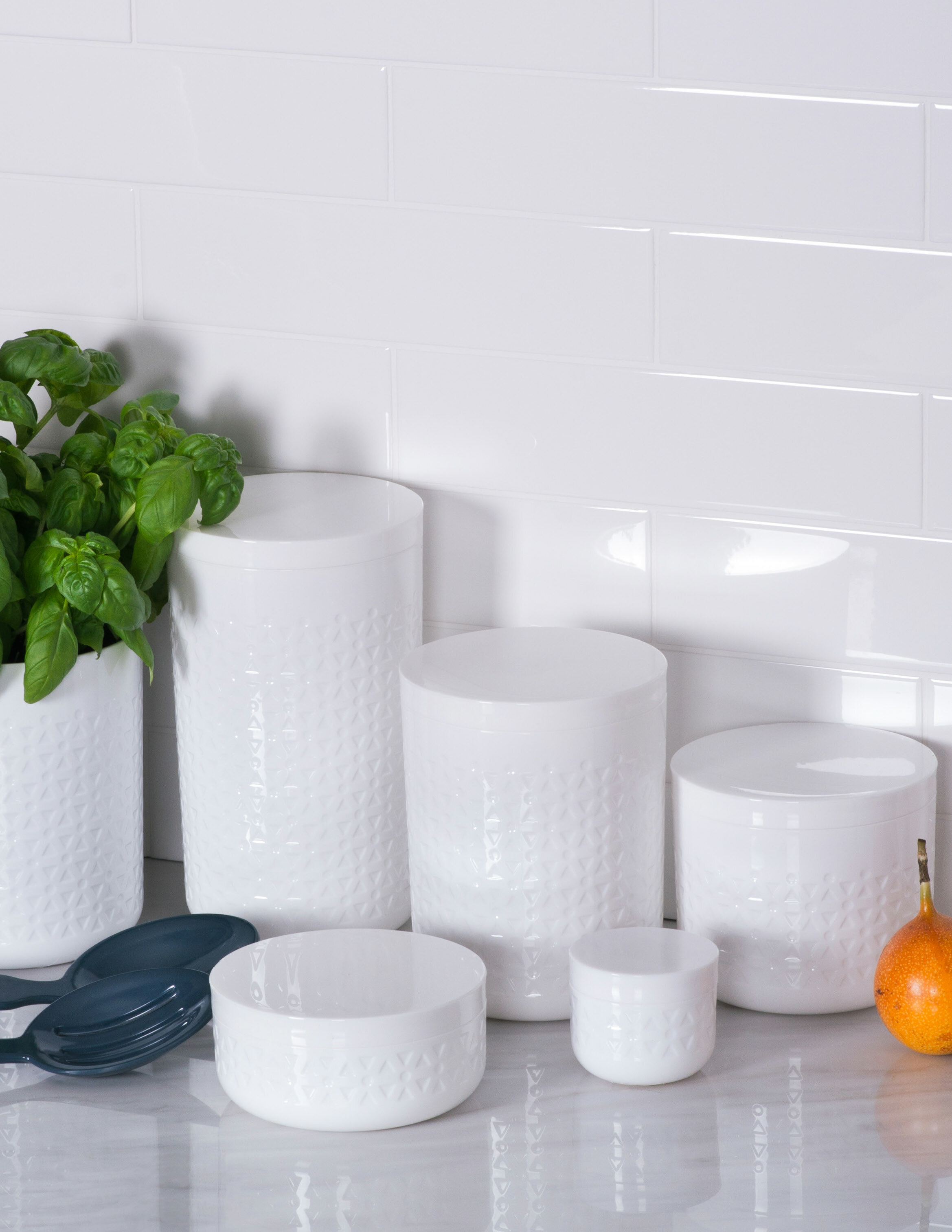 Contemporary 3 Piece Kitchen Canister Set