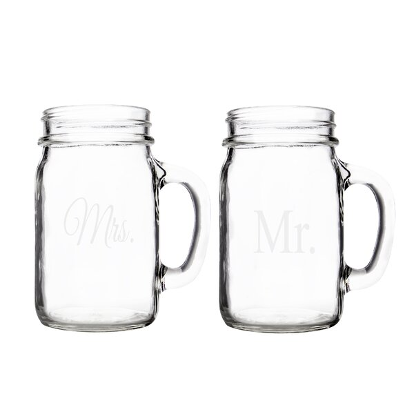 Mr. & Mrs. Mason Jar (Set of 2) by Cathys Concepts