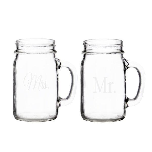 Mr. & Mrs. Mason Jar (Set of 2) by Cathys Concepts