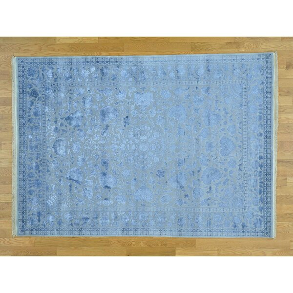 One-of-a-Kind Benally Hand-Knotted Grey Wool Area Rug by Isabelline