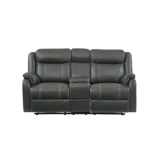 Free Shipping & Free Returns On Morphew Console Reclining Loveseat by Winston Porter by Winston Porter