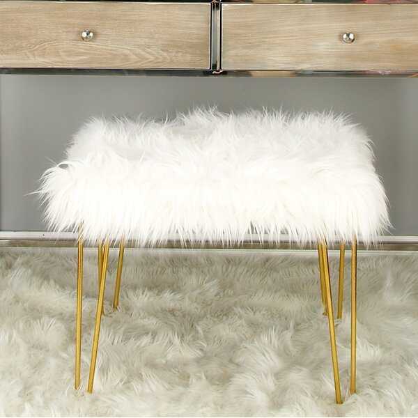 Metal Fur Accent stool by Cole & Grey