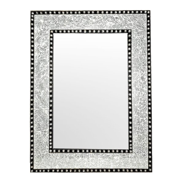 Crackled Glass Jewel Tone Mosaic Accent Wall Mirror by DecorShore