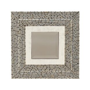 Cole & Grey Wood Shell Wall Mirror