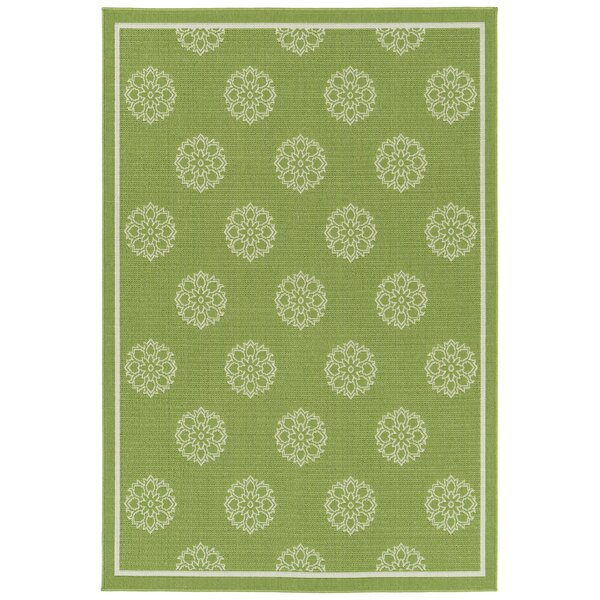 Mikole Lime Green Indoor/Outdoor Area Rug by Canora Grey