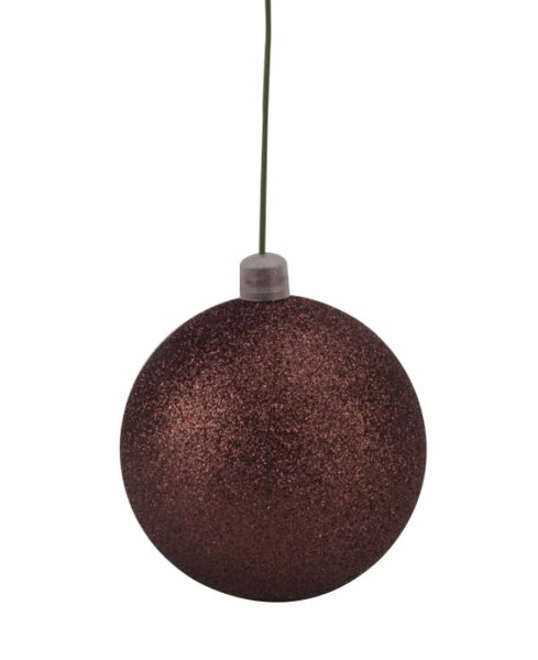 Glitter Ball Christmas Ornament (Set of 12) by Lark Manor