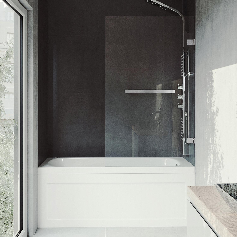 Vigo Rialto 34 X 5738 Hinged Bathtub Door Reviews Wayfair