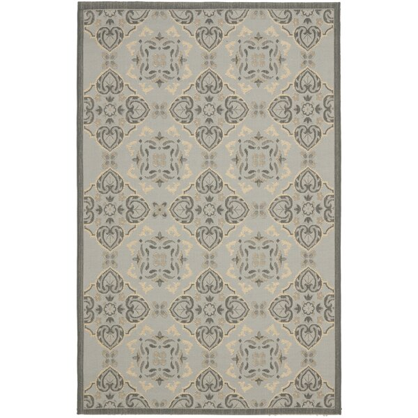 Herefordshire Light Grey/Anthracite Indoor/Outdoor Loomed Rug by Winston Porter