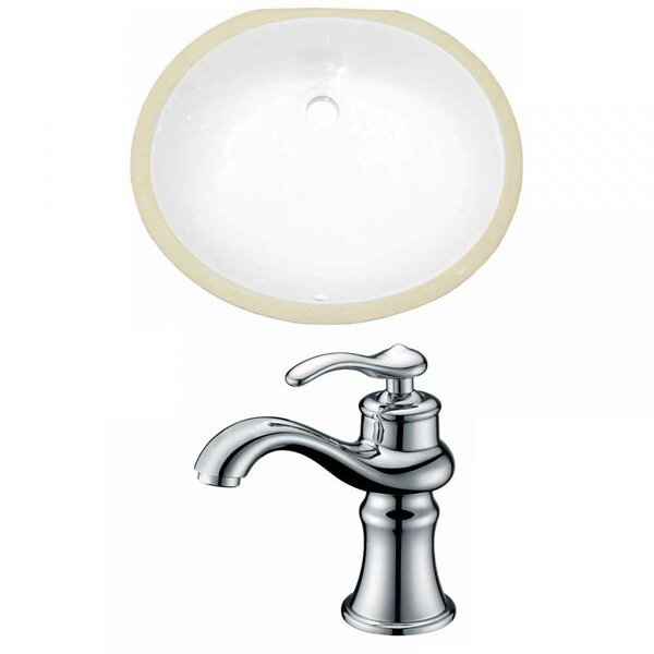 CUPC Ceramic Oval Undermount Bathroom Sink with Faucet and Overflow by American Imaginations