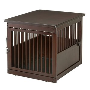 Wooden End Table Pet Crate by Richell