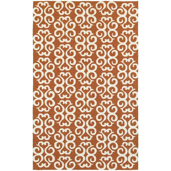 Atrium Scroll Work Brown/Ivory Indoor/Outdoor Area Rug by Tommy Bahama Home
