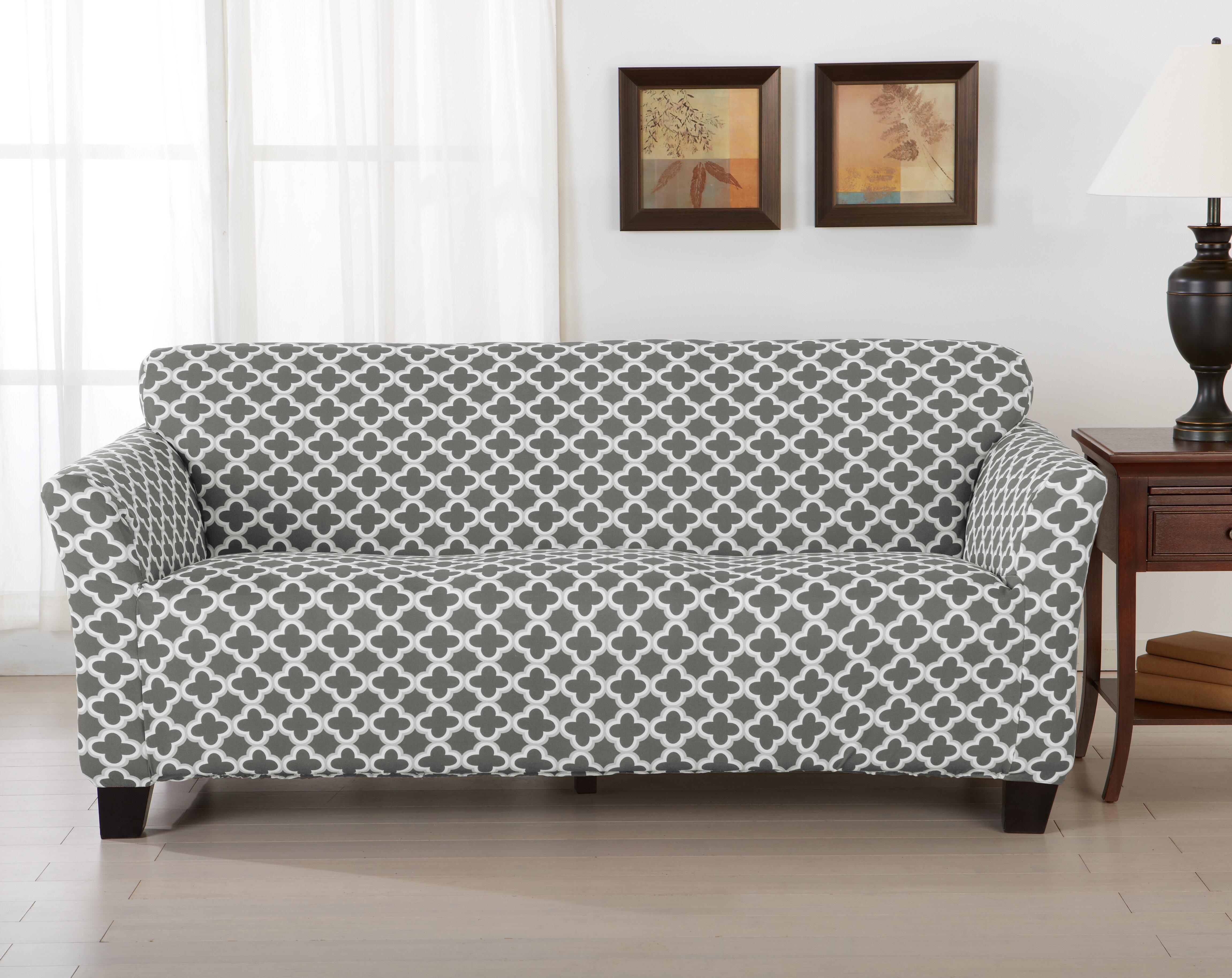Home Fashion Designs Brenna Box Cushion Sofa Slipcover Reviews Wayfair