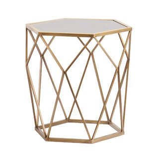 Gold side tables wayfair luxton side table greentooth Choice Image