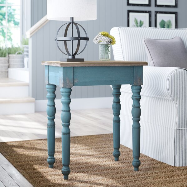 Alec Wooden End Table By Lark Manor