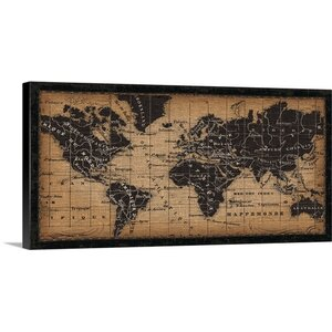 Old World Map Graphic Art on Wrapped Canvas by Great Big Canvas