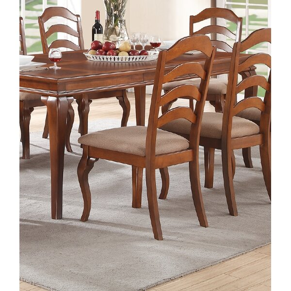 Bethany Upholstered Ladder Back Side Chair In Cherry (Set Of 2) By A&J Homes Studio