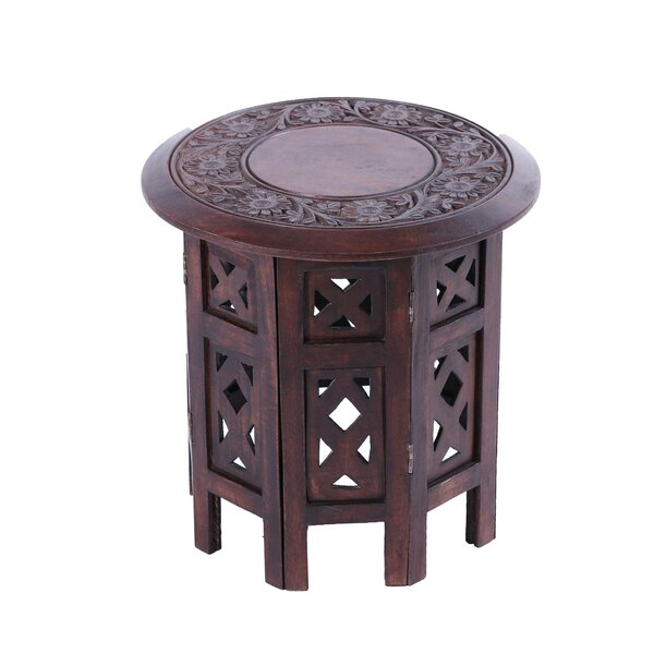 Harper Delightful Flowers Wood End Table by Bloomsbury Market