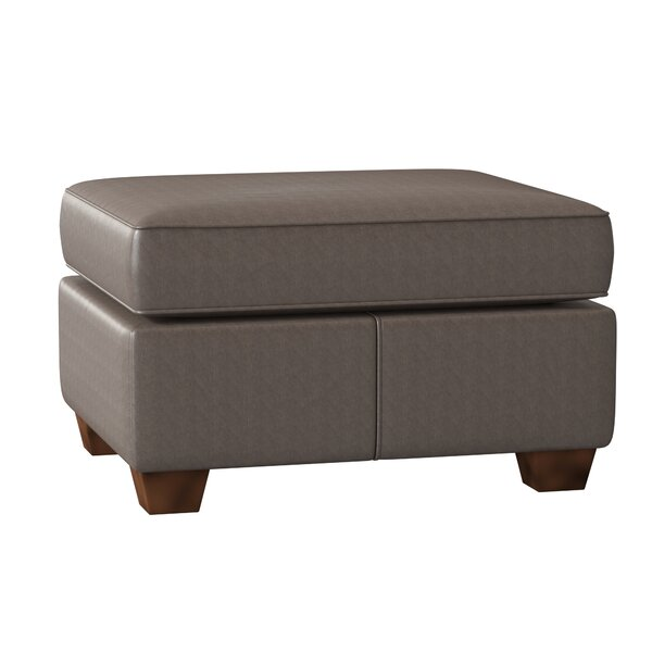 Tianna Leather Ottoman By Wayfair Custom Upholstery™