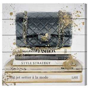 'Jetsetter a la Mode' Graphic Art Plaque by Willa Arlo Interiors