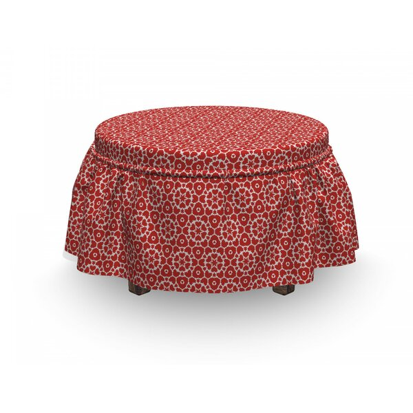 Complex Geometric Ornament Ottoman Slipcover (Set Of 2) By East Urban Home
