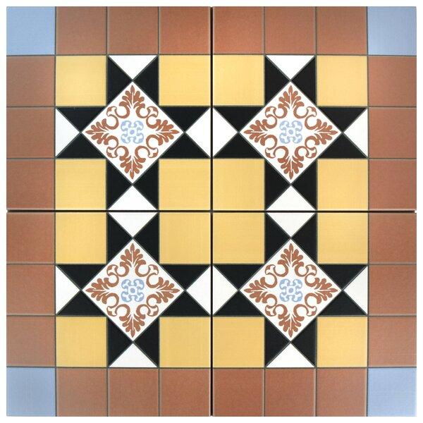 Chelsea Derby 9.75 x 9.75 Porcelain Field Tile in Brown by EliteTile